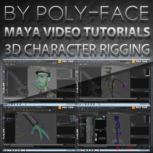 Poly-face - MAYA TUTORIALS  [2010-2011, ENG]