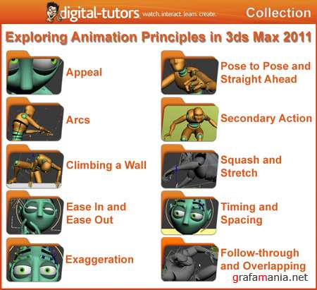Digital Tutors - Exploring Animation Principles in 3ds Max 2011 Collection [2010-2011, ENG]