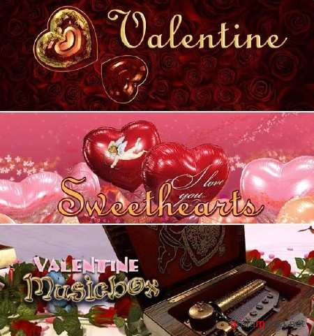 Скринсейверы от 3PlaneSoft к дню Святого Валентина: Valentine 3D Screensaver, Sweethearts 3D Screens