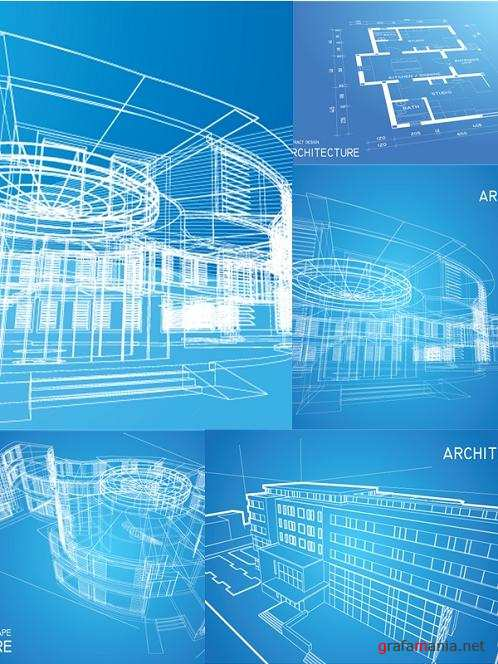Architecture Backgrounds Vector Set