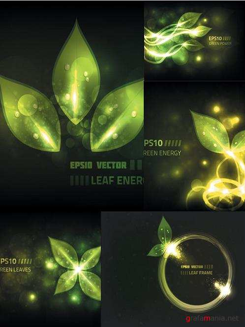 Vector Leaves Backgrounds