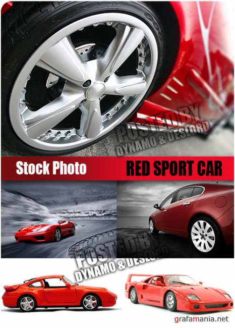 UHQ Stock Photo - Red Sport Car