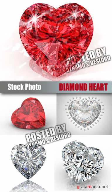 UHQ Stock Photo - Diamond Heart