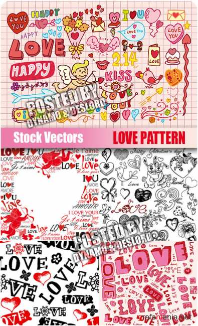 Stock Vectors - Love Pattern