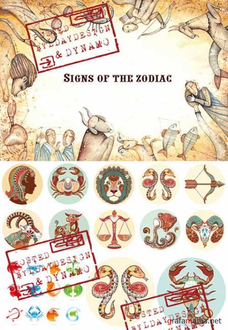 Stock Vectors - Signs of the zodiac