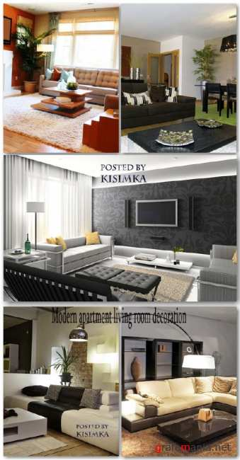 Stock Photo: Modern apartment living room decoration