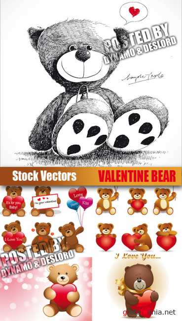 Stock Vectors - Valentine Bear