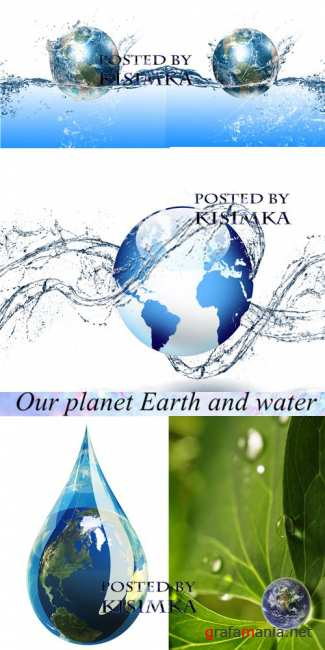 Планета Земля и вода  Stock Photo: Our planet Earth and water