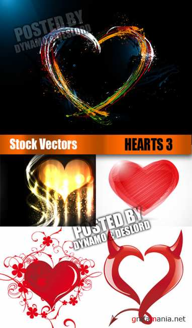 Stock Vectors - Hearts 3