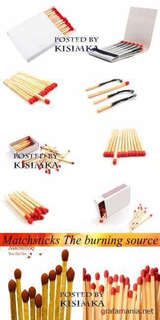 Спички  Stock Photo: Matchsticks The burning source