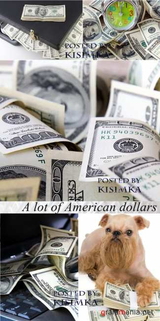 Американские доллары  Stock Photo: A lot of American dollars