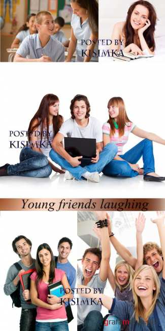 ��������� ��������  Stock Photo: Young friends laughing