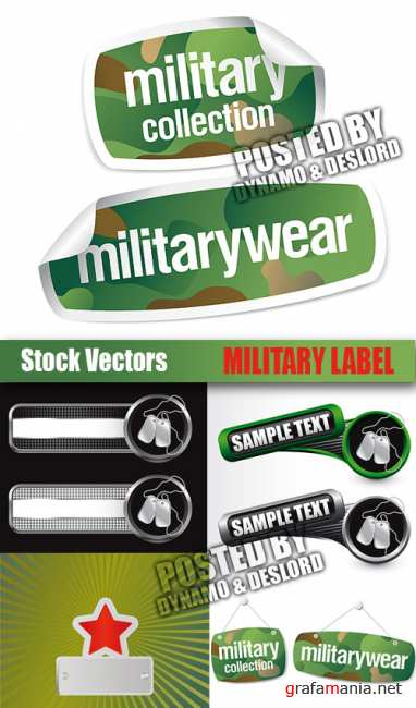 Stock Vectors - Military label