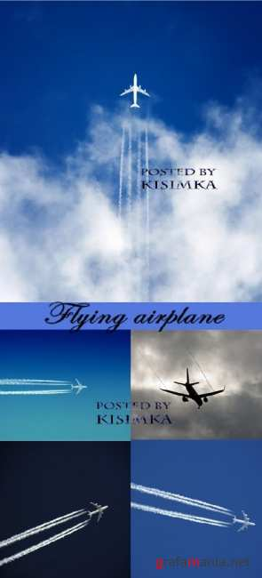 ����� ��������  Stock Photo: Flying airplane
