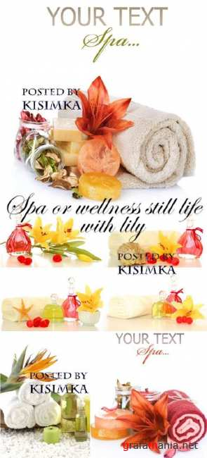 Все для спа  Stock Photo: Spa or wellness still life with lily