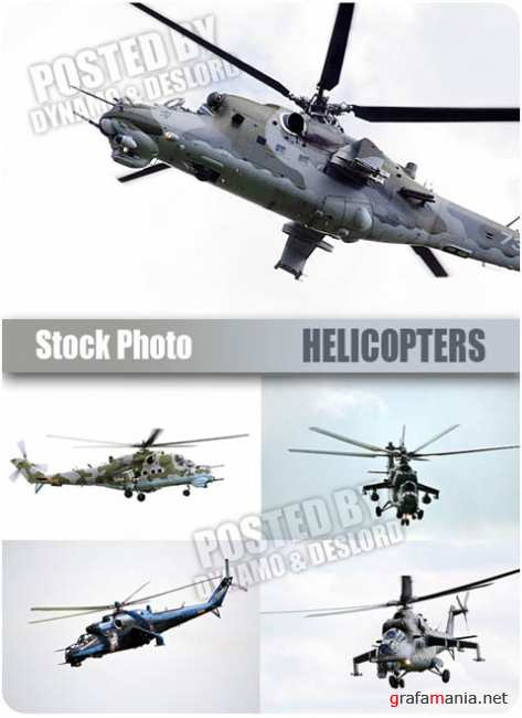 UHQ Stock Photo - Helicopters