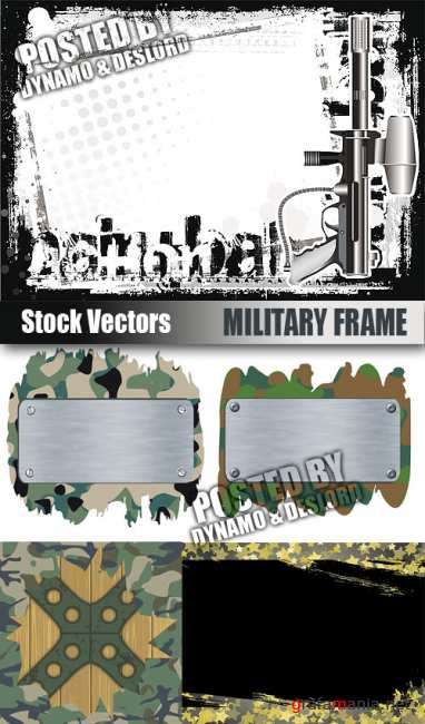 Stock Vectors - Military Frame