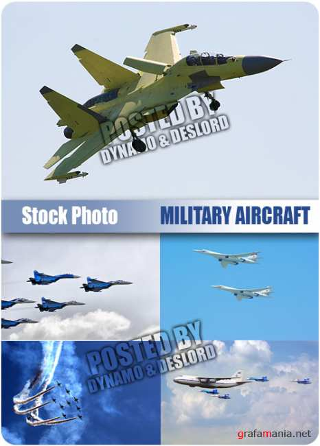 UHQ Stock Photo - Military aircraft