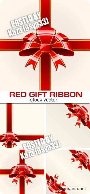 Red gift ribbons