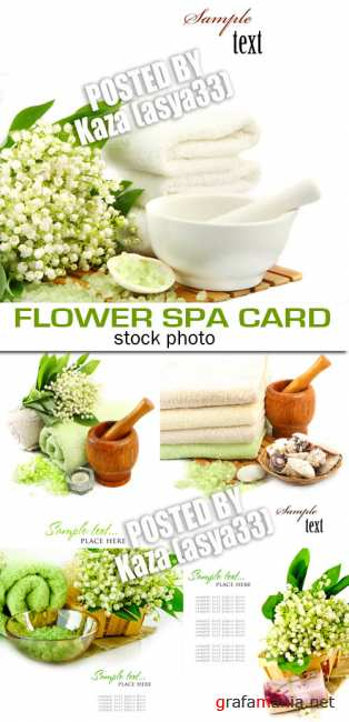 Spa flower cards