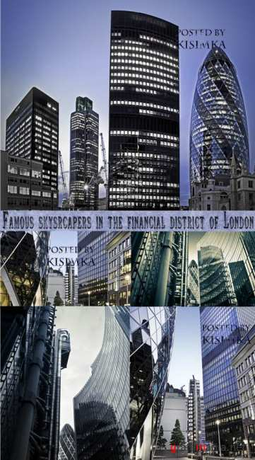 Небоскребы в Лондоне  Stock Photo:Famous skysrcapers in the financial district of London