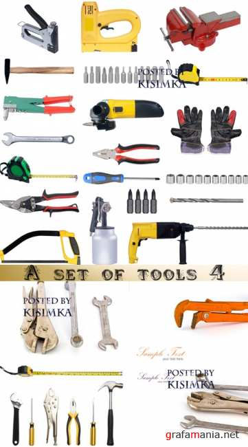 Набор инструментов 4  Stock Photo: A set of tools 4