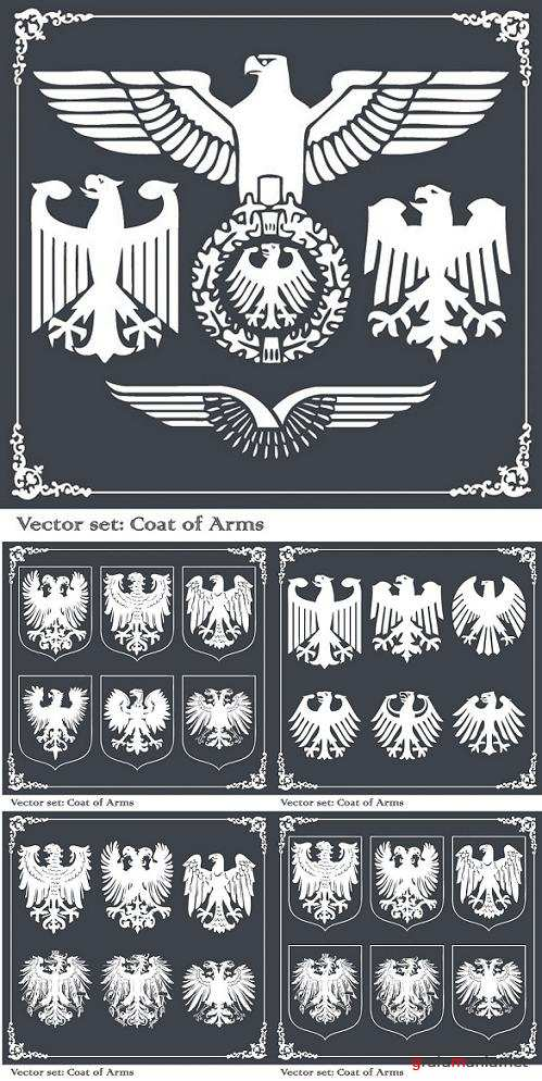 Vector Set: Coat of Arms