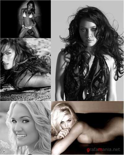 Hot Girls in Black and White Wallpapers part 3