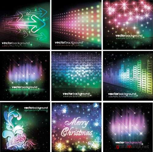 Stock Vector � Colorful Space Backgrounds