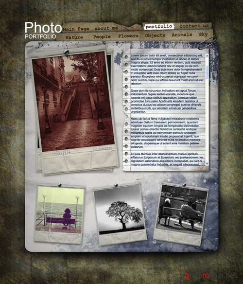 Personal Page Template