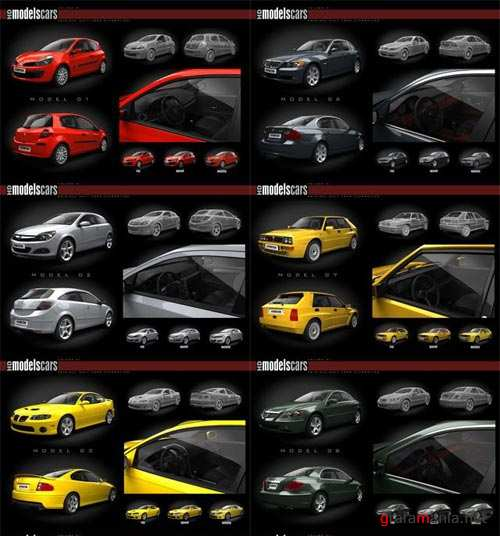 3D models from  Evermotion HD cars