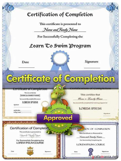 Certificate of Completion - Vector Stock