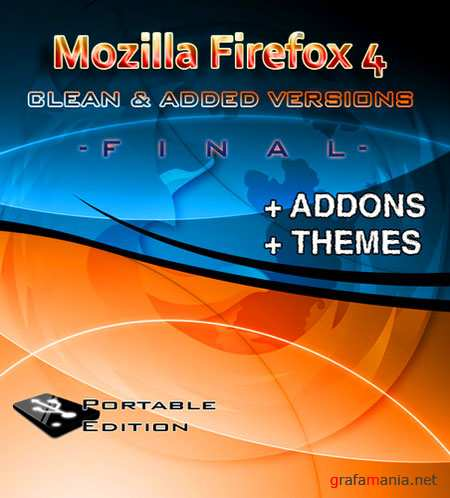 Mozilla Firefox 4.0 Clean & Firefox (Addons + Themes) Portable Final Rus