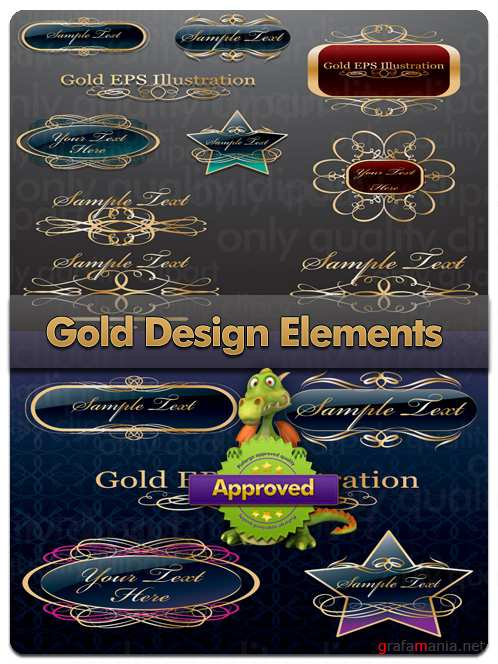 Gold Design Elements - Vector Stock