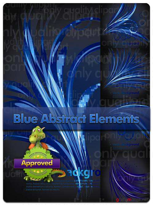 Blue Abstract Elements Backgrounds - Vector Stock