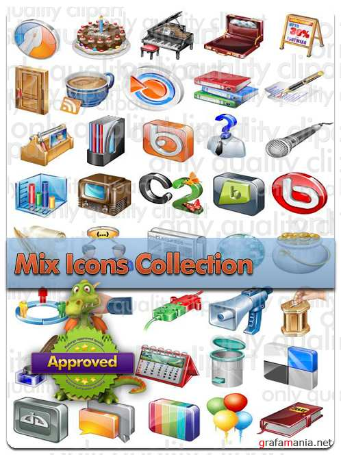Mix Icons Big Collection - Vector Stock