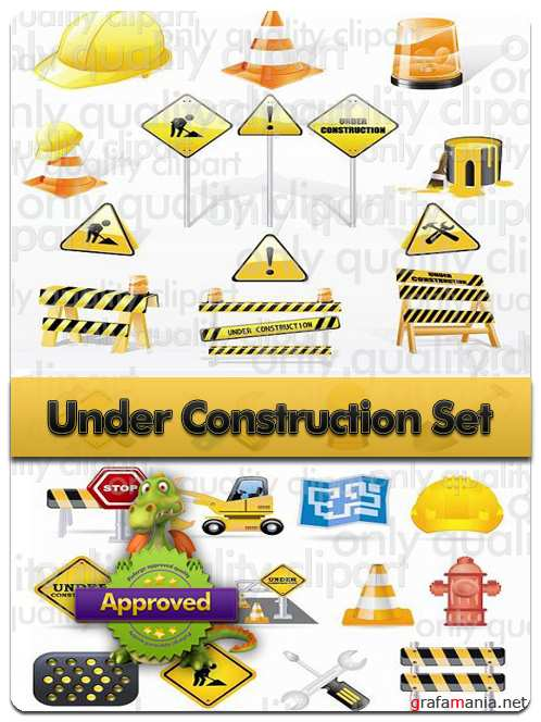Under Consruction Set - Vector Icon Stock