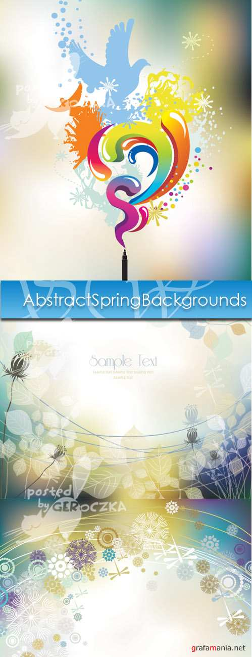 Abstract Spring Backgrounds