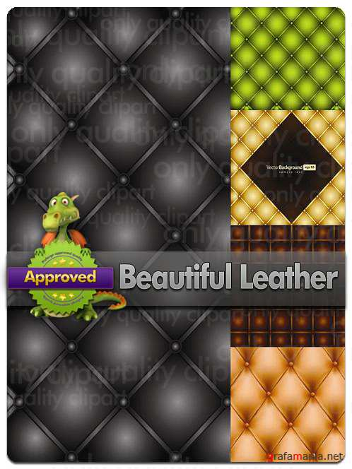 Beautiful Leather Backgrounds - Vector Stock