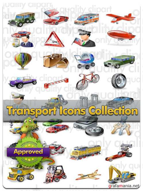 Transport Icons Collection - Vector Stock