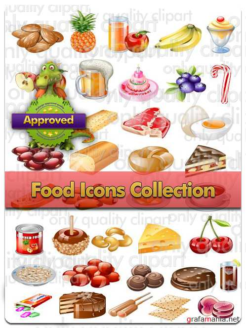 Food Icons Collection - Vector Stock