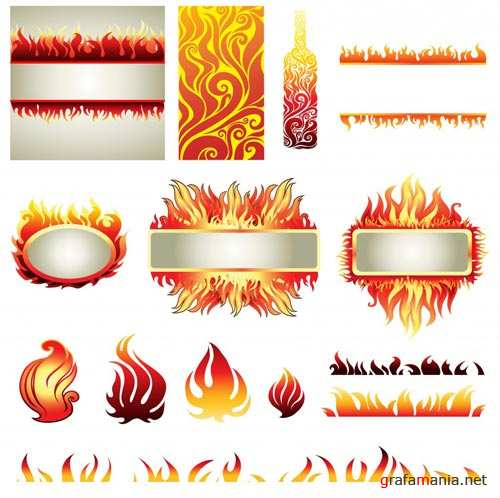 Fire Elements in Vector
