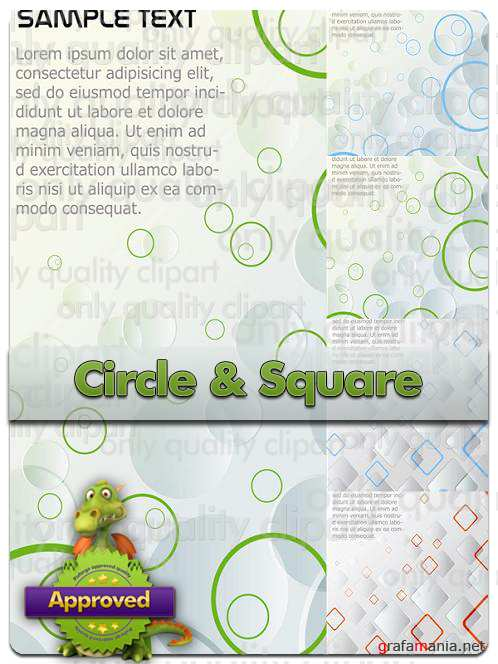 Circle & Square Backgrounds - Vector Stock