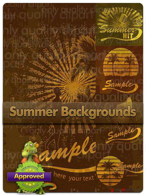 Summer Backgrounds - Vector Stock
