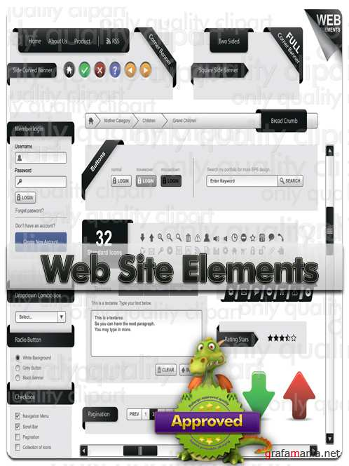 Web Site Elements - Vector Stock