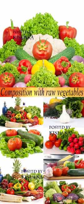 ������ �����  Stock Photo: Composition with raw vegetables