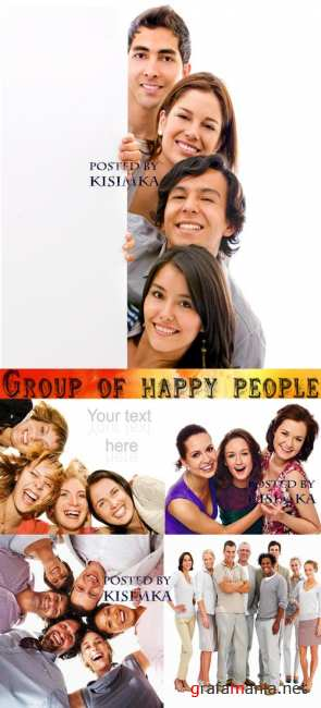 Stock Photo: Group of happy people