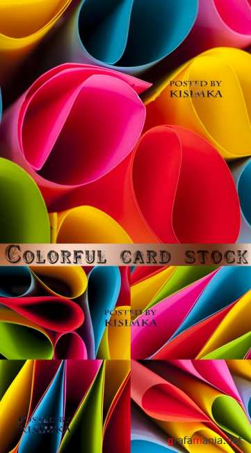 ������������ �����  Stock Photo: Colorful card stock