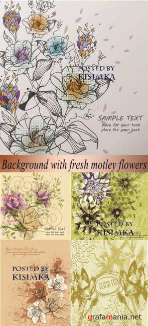��������� ���  Stock: Background with fresh motley flowers