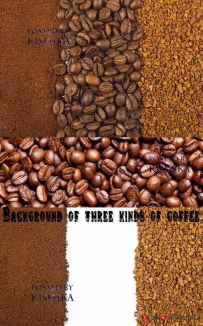 ���: ��� ���� ����   Stock Photo: Background of three kinds of coffee
